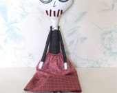 One of a Kind Art Doll, Soft Sculpture - Norma