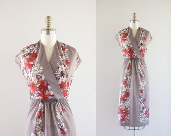 S A L E 1970's sheer floral dress