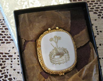 Vintage Fame Golden Unicorn Creme Perfume Compact in Original Box