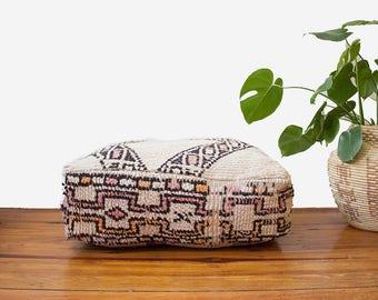 Moroccan Pouf / Moroccan Beni Ourain Pouf / Moroccan Floor Pouf / Moroccan Floor Cushion / Floor Pillow / Floor Pouf / FREE US SHIPPING