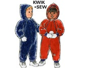 Toddlers Snowsuit Windsuit Overalls Pattern Kwik Sew 2381 Size 1 - 4 UNCUT Factory Folded master pattern