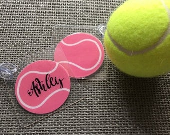 Tennis Racket Bag Tag Tennis Ball Bag Tag Tennis Gift Tennis Gift Tag Tennis Bag Tag Tennis Party Favor Tennis Team Gift Tennis Themed Gift