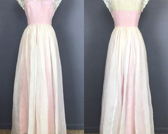White and Pink Garden Party Dress