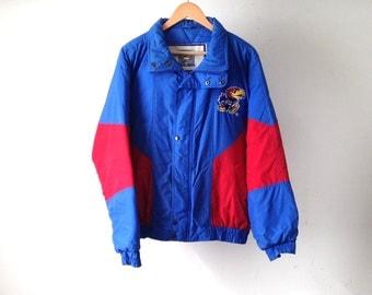 KANSAS JAYHAWKS ncca vintage basketball STARTER style 90s nylon jacket vintage hoop dreams