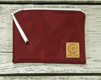 Snack Size Reusable Bag - Burgandy Nylon