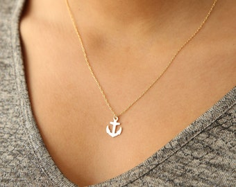Anchor Necklace, Anchor Jewelry, Vacation Jewelry, Ocean Jewelry, Nautical Jewelry, Sweet 16 Gift, Teen Girl Gifts, Sea Life, Urban Necklace