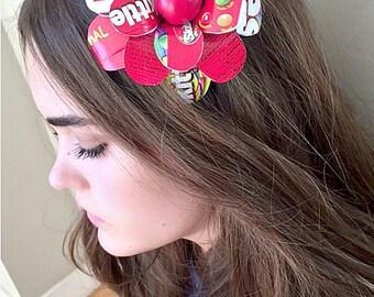 Jumbo Skittles Paper Mache Daisy Headband
