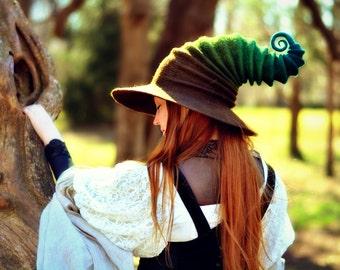 "Costume Hat. ""Woodland"" Witch Hat. Wizard Hat. Fantasy Hat. Cosplay Hat. LARP."