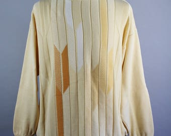 Mens Sweater. St. Croix Sweater . Pullover Sweater . Mid Century Modern . Golf Sweater . Yellow Sweater . Vintage . Size 2XL . GOGOVINTAGE