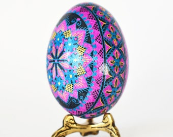 Mother's Day gift from Daughter pretty pink and lilac Pysanka egg real chicken egg ornament