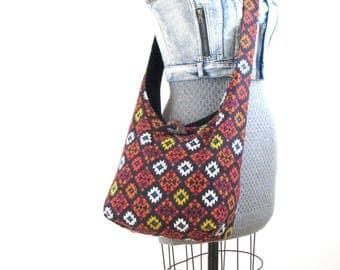 Sling Bag for Women - Ladies Cross Body Bag - Crossbody Purse - Over the Shoulder Bag - Crossbody Handbag - Vegan Handbag - Tribal Bag