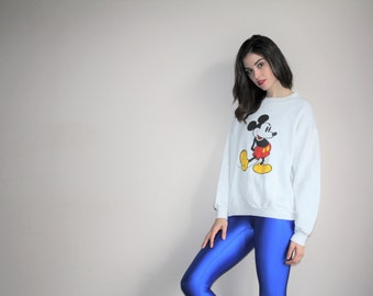 Vintage 80s Disney Mickey Mouse Sweatshirt - Vintage 1980s Mickey Mouse Sweatshirts - Vintage Mickey Sweater - W00662
