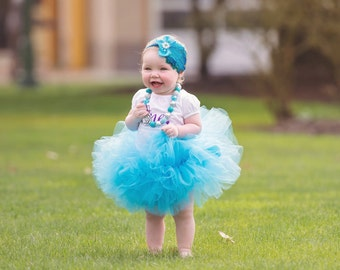 Baby Girl 1st Birthday Tutu, Turquoise Tutu Skirt, Toddler Tutu Set, Kids Tutu, Girls Tutu, Baby Tutus, Tulle Skirt