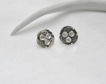 Lotus Pod Moonstone earrings