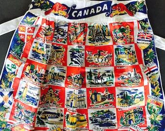 Vintage Hostess Half Apron, Canada, Souvenir Apron