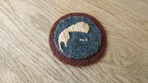 Morrissey Smiths felt patch // hand-embroidered