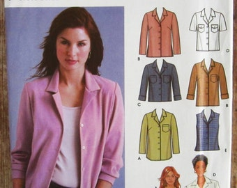 Easy to Sew Misses Shirt with Length and Sleeve Variations Sizes 6 8 10 12 Simplicity Pattern 5455 UNCUT
