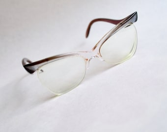1950s mother of pearl effect cat eye spectacles / 50s 60s eyeglasses frames