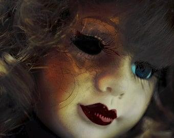 Horror Print - Creepy Doll, Dark Art, Dark Print, Weird Art, 8x10, Creepy Print, Dark Print, Digital Art, Porcelain Doll, Scary Doll, Dolly