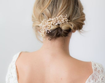 Pearl Wedding Headpiece, Pearl Bridal headpiece, Pearl headpiece, Wedding Comb, wedding hair accessory