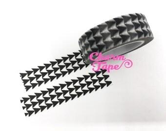 Black Triangle Arrows Washi Tape 15mm 10m WT539
