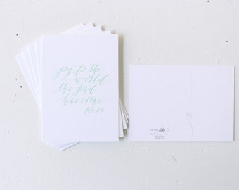 Sale: Postcards, Set of 6, Christmas Scripture, Mint, Double Thick