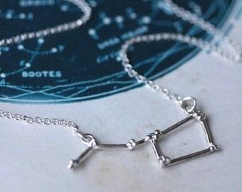 Sterling Silver Ursa Major Constellation Necklace, Constellation Necklace, Big Dipper Necklace, star jewellery