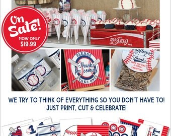 Baseball Birthday | Baseball Party Printable | Baseball Decorations | Sports Party | Sports Birthday | 1st Birthday | Amanda's Parties To Go
