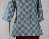 Ladies/Girls Shortgown, 32-34 bust, colonial blue, ready to ship, , pirate, renaissance
