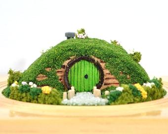 The Shire - Hobbit House Mini Garden Hobbit Garden Handmade Diorama Fairy House Fairy Garden by A Garden to Treasure