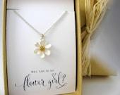 Flower Girl Gift, Flower Girl Necklace, Flower Necklace, Will you be my Flower Girl? Flower Girl Proposal
