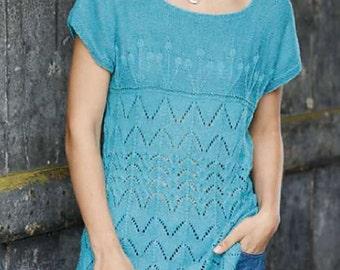 Ladies lace top knitting pattern