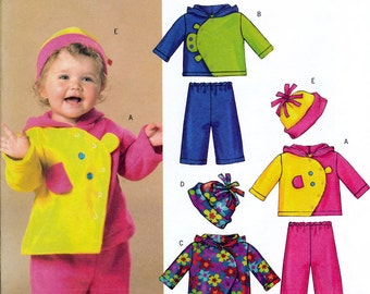 Butterick B4587 Sewing Pattern for Infants' Jacket, Pants and Hat - Uncut - All Size