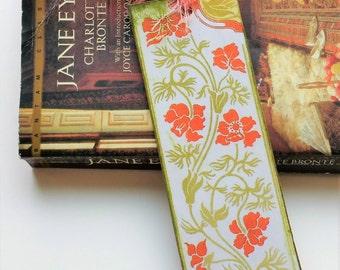 Art Nouveau Bookmark - Flower Design Bookmark - Tasseled Bookmark - Booklovers Gift - Gift for Her - Handmade Booksmarks