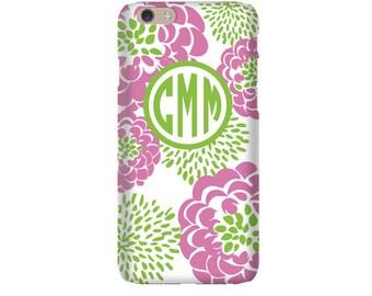 Monogram iPhone 7 Plus * 7 * 6/6S Plus * 6/6S * SE premium petal peony phone case personalized with name or initials