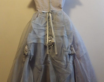 Gorgeous 1950s Formal Dress Taffeta and Tulle full skirt
