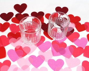 Jumbo Confetti Hearts, Valentine's Day Decoration - Beautiful translucent vellum paper confetti, perfect for wedding decor