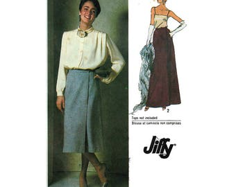 """70s Women's Vintage Sewing Pattern Skirt Day Or Evening Length Front Wrap EASY Maxi Skirt Size 12 Waist 26.5"""" (67 cm)  Simplicity 9113 S"""