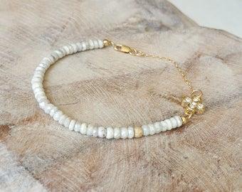 White Sapphire Bracelet, Gold White Sapphire Bracelet, White Sapphire Silverite Bracelet, Gold Silverite Bracelet, Silverite Bracelet