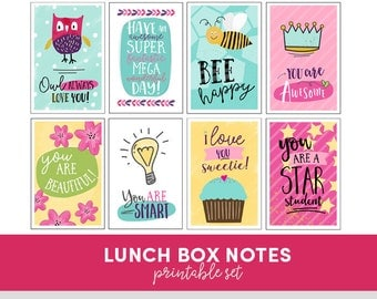 Lunch Box Notes - Printable - Set of 9 - Kids Love Coupons - Back to School
