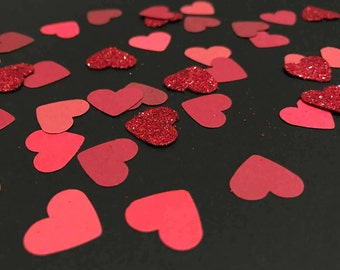 Hearts Aflutter Red Confetti or Table Scatter (200 pcs) - Wedding, Bridal Shower, Engagement, Anniversary, Valentine's Day Decor