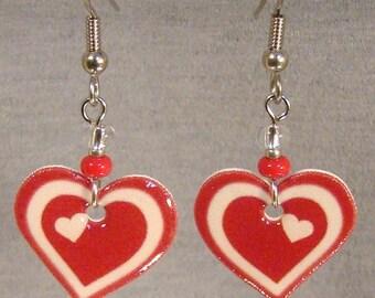 Double Heart Dangle Earrings - Valentine's day Jewelry - Love Jewellery