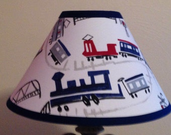 Trains Children's Fabric Lamp Shade