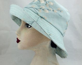 Blue sun hat,wide brim hat,Vita Sackville West,Wide sun hat,Large brim,sun hat,baby blue hat,women's hat,girls hat,classic hat
