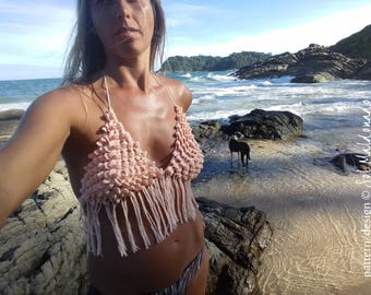 Bikini Crochet Pattern PDF - Crop Top - Aloha summr top Bikini PHOTO tutorial - Instant DOWNLOAD