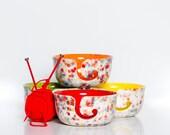 Yarn Bowl for Knitting | Ceramic | Yarn Bowl | Pottery | handmade in my Charleston, SC studio
