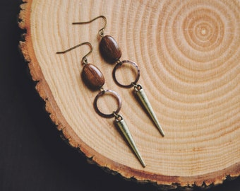 earthy spike hoop earrings.