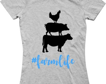 Chicken Pig Cow #farmlife SVG EPS PNG jpg File Digital Download Farm Decal Farmhouse Decor