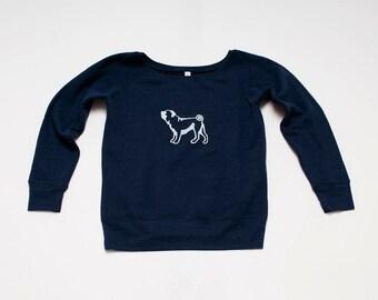 SALE Pug Sweatshirt, Size L