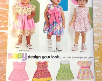 New Look 6877 Baby Dresses and Bottoms Sizes NB-L